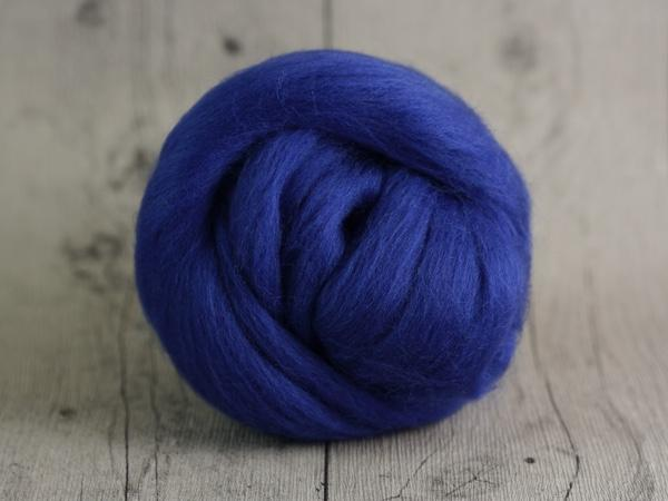 CHUNKY wool evening blue 100 % virgin wool from the merino sheep